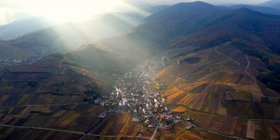 Katzenthal, vue  d'en haut